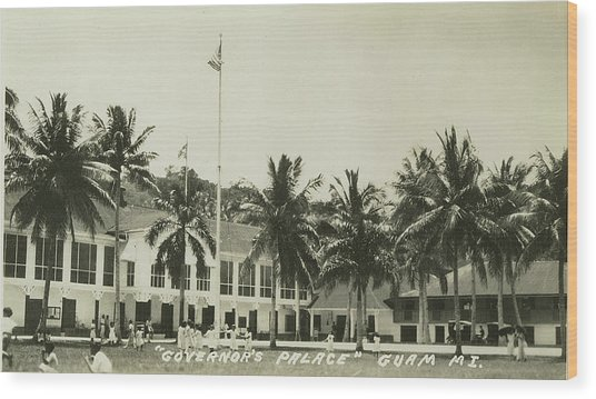 Governors Palace Guam Wood Print