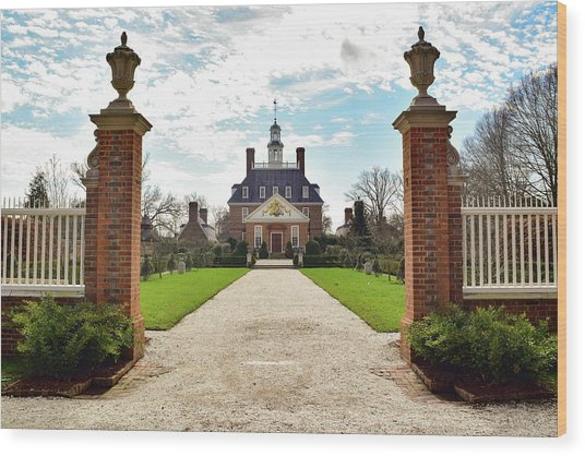 Governor's Palace In Williamsburg, Virginia Wood Print