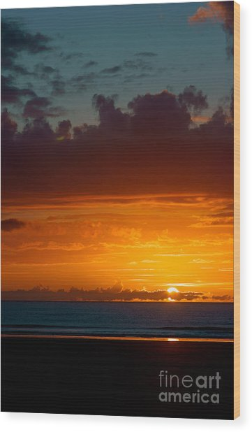 Gower Sundown Wood Print