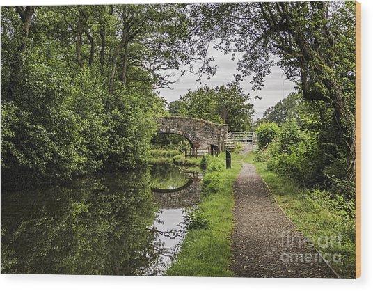 Goytre Wharf  Bridge Wood Print