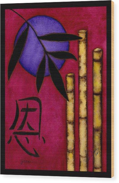 Grace - The Art Of Balance Wood Print by Stephanie  Jolley