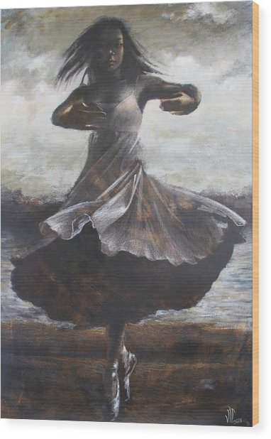 Grace And Movement Wood Print