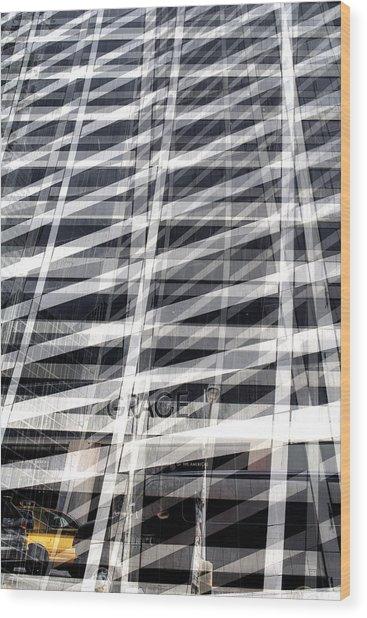 Grace Building Collage 2 Wood Print