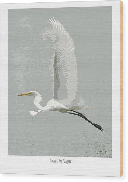 Grace In Flight Wood Print