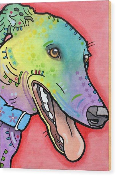 Graceful Greyhound Wood Print