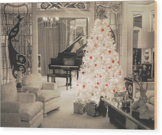 Graceland Holiday Wood Print by JAMART Photography