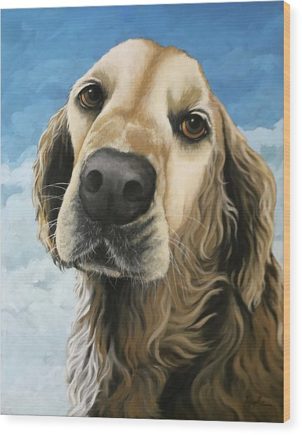 Gracie - Golden Retriever Dog Portrait Wood Print
