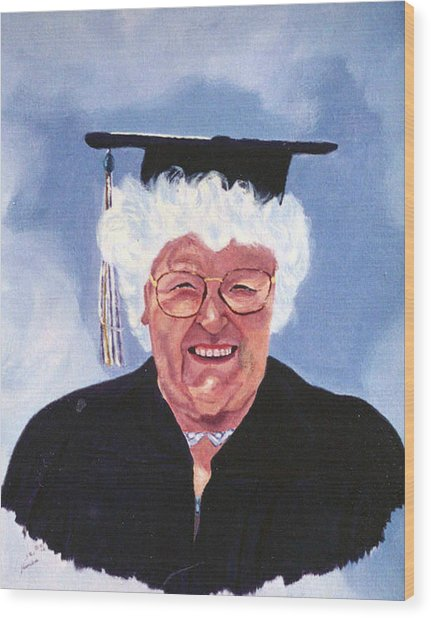 Graduation At 75 Wood Print by Stan Hamilton