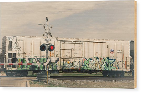 Graffiti Ride Wood Print