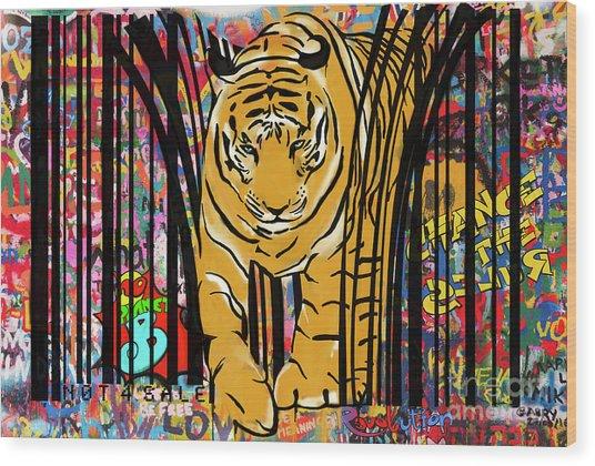 Graffiti Tiger Wood Print
