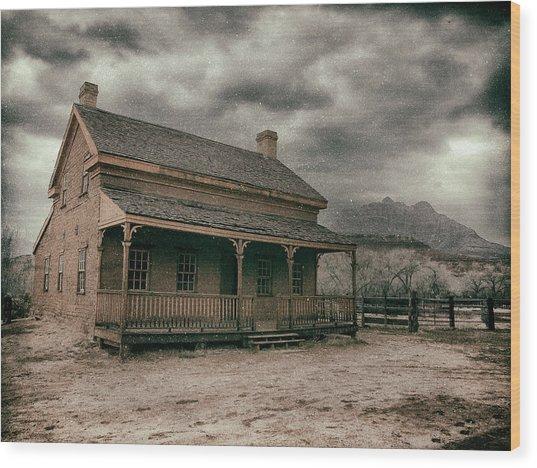 Grafton Cabin Wood Print
