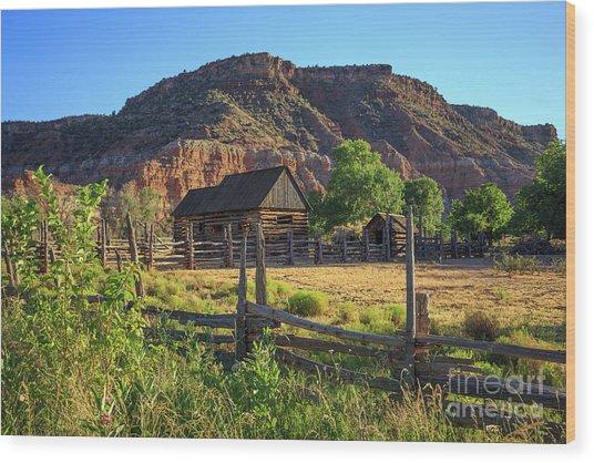 Grafton Ghost Town Utah Old Barns Wood Print
