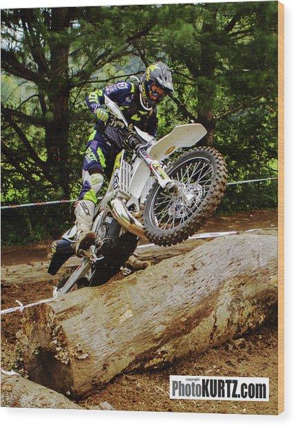 Graham Jarvis At 2017 Kenda Tennessee Knockout Enduro Wood Print