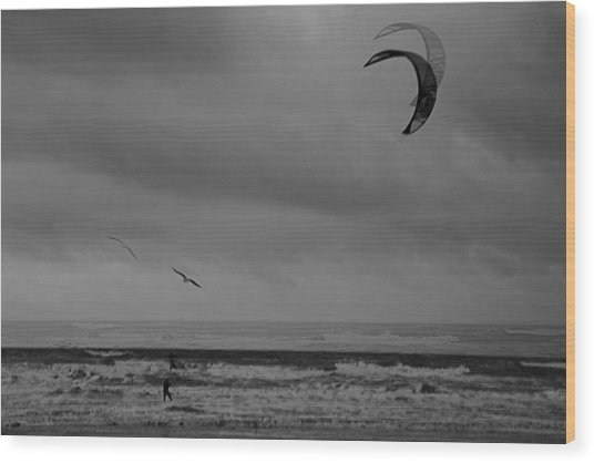 Grainy Wind Surf Wood Print