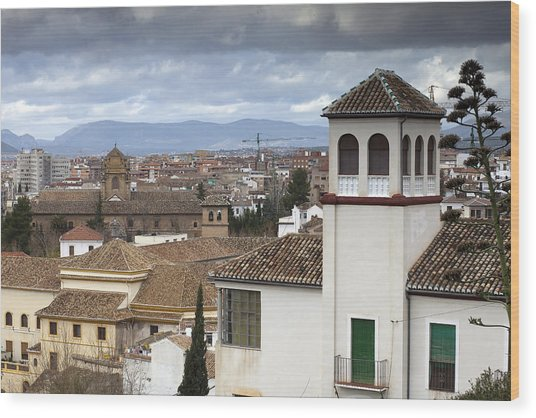 Granada Wood Print by Andre Goncalves