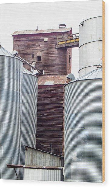 Grainery Tower 3 Wood Print