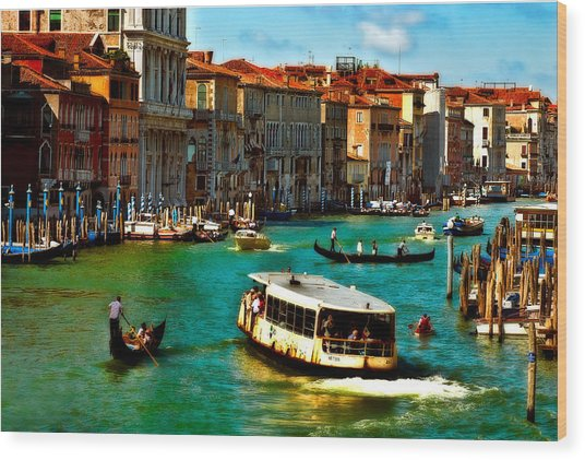 Grand Canal Daytime Wood Print