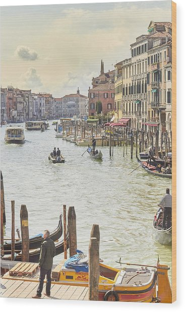 Grand Canal - The Most Famous Canal In Venice Wood Print