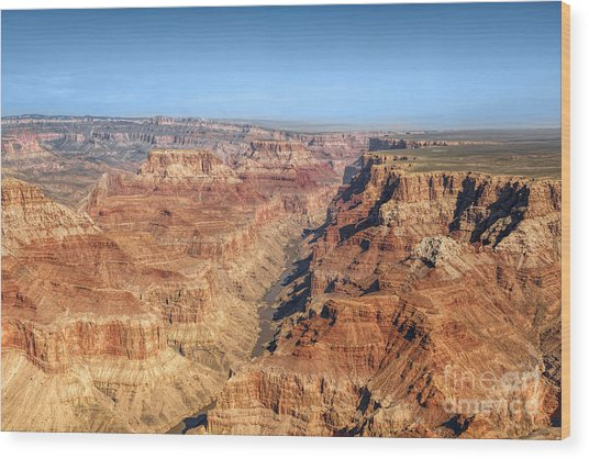 Grand Canyon Aerial View Wood Print