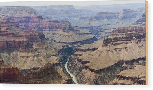 Grand Canyon And Colorado River 3 Of 5 Wood Print