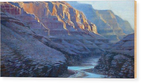 Grand Canyon Dawns Wood Print