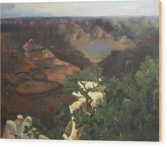 Grand Canyon Wood Print by Marcy Silverstein