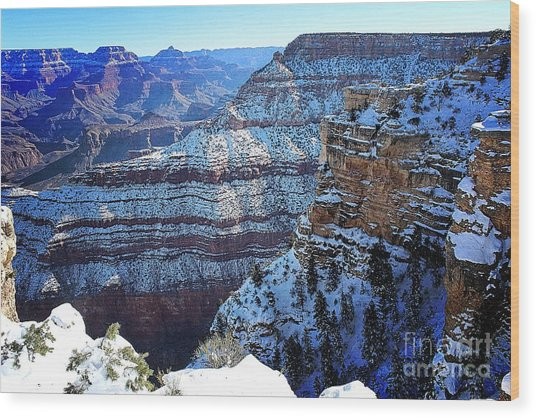 Grand Canyon National Park In Winter Wood Print