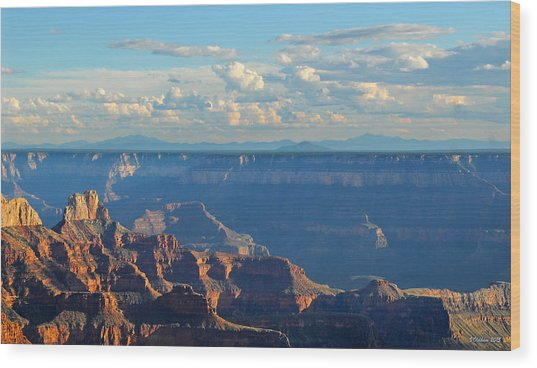 Grand Canyon North Rim Sunset San Francisco Peaks Wood Print