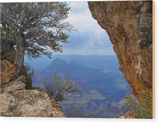 Grand Canyon North Rim Window In The Rock Wood Print