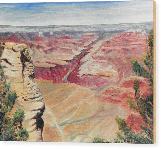 Grand Canyon Overlook Wood Print