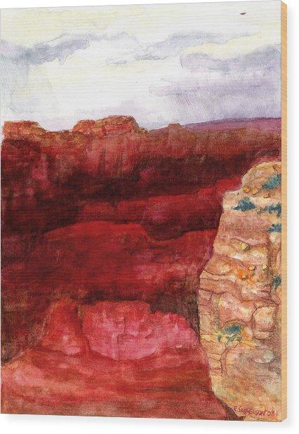 Grand Canyon S Rim Wood Print