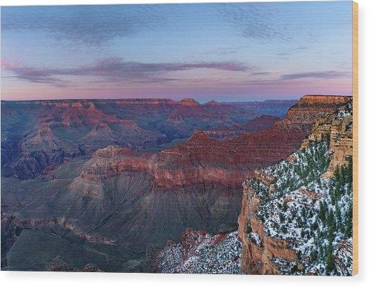 Grand Canyon - South Rim Twilight Wood Print