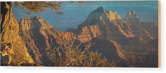 Grand Canyon Sunset Panorama Wood Print