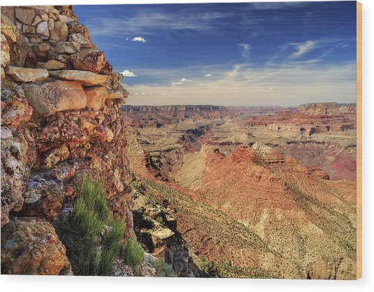 Grand Canyon Wall Wood Print