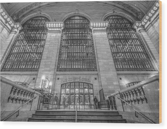 Grand Central Station Wood Print by Michael  Bennett