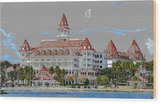 Grand Floridian In Summer Wood Print