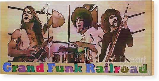 Grand Funk Railroad Collection - 1 Wood Print