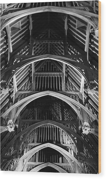 Grand Hall Ceiling Wood Print