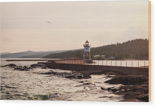 Wood Print featuring the photograph Grand Marais Shore by Whitney Leigh Carlson