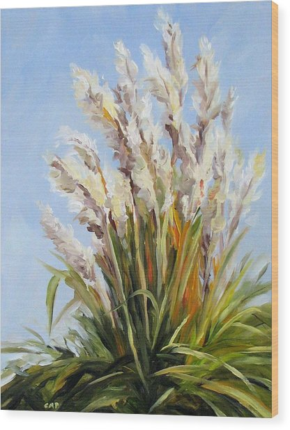 Grand Pampas Wood Print by Cheryl Pass