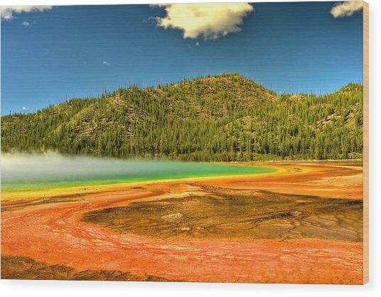 Grand Prismatic Spring Wood Print