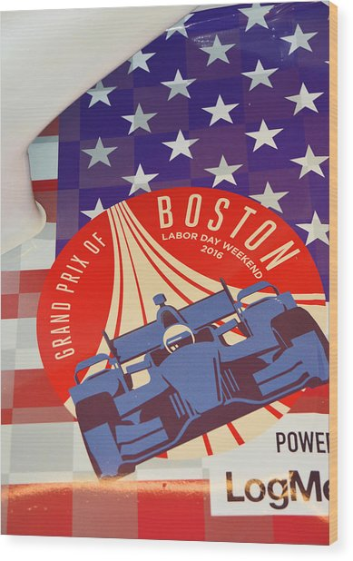 Grand Prix Of Boston Wood Print