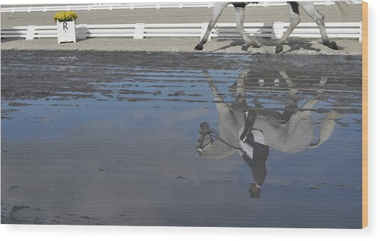 Grand Prix Reflected Wood Print by JAMART Photography