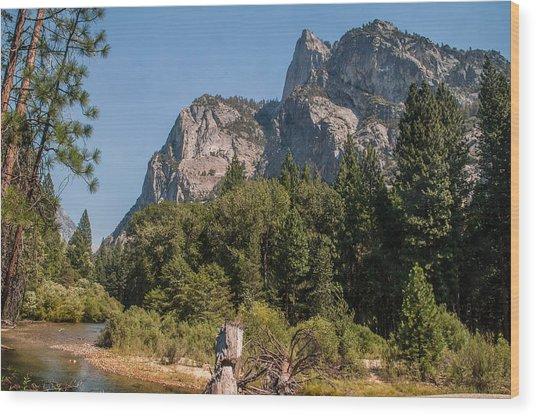 Grand Sentinel Zumalt Meadow Kings Canyon National Park Wood Print