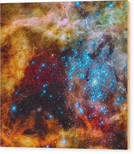 Grand Star-forming Region Wood Print