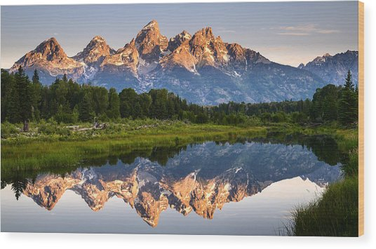 Grand Teton Awakening Wood Print