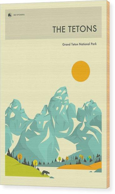 The Tetons Wood Print