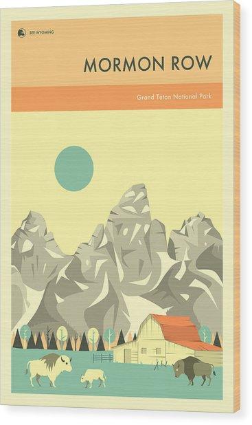Grand Teton National Park - Mormon Row Wood Print