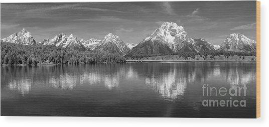 Grand Teton Tranquility Wood Print