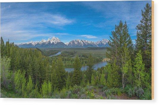 Grand Teton Vista Wood Print